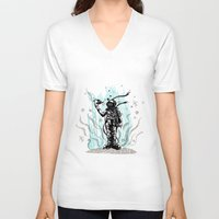 diver V-neck T-shirts featuring DIVER by taniavisual