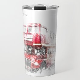 Graphic Art LONDON WESTMINSTER Street Scene Travel Mug