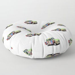Retro Car Pattern Floor Pillow