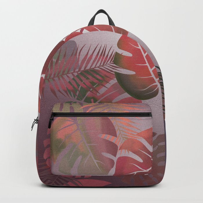 Tropical Autumn Leaves Backpack