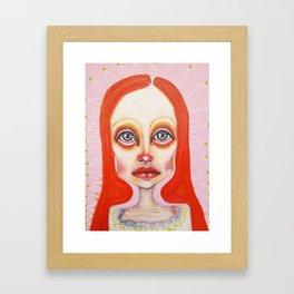 pink orange Framed Art Print