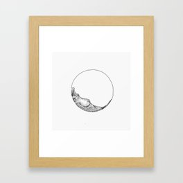 Naked woman in a circle Framed Art Print