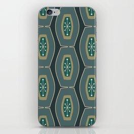 Midcentury Funky Chain Pattern Seaweed iPhone Skin