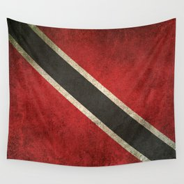Old and Worn Distressed Vintage Flag of Trinidad and Tobago Wall Tapestry