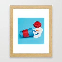Caution! Contents hot Framed Art Print