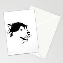 Husky snow Stationery Cards