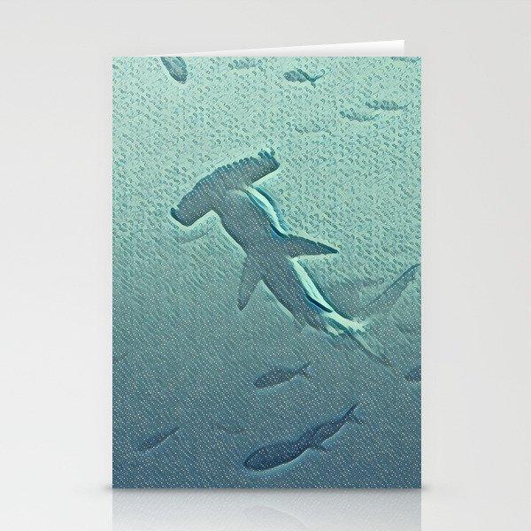 Oh, a hammerhead shark! Stationery Cards