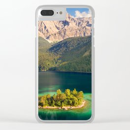 Paradise Lake Clear iPhone Case