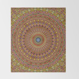 Magic Ornate Garden Mandala Throw Blanket