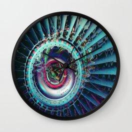 Jet Engine Geometric Abstract Wall Clock
