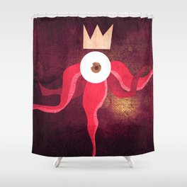 Red King Octopus Shower Curtain