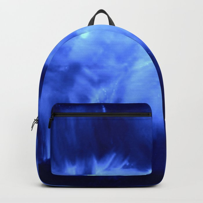 Ultraviolet Purple Lavender White Abstract Brush Strokes Backpack