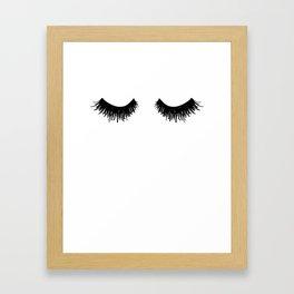 Eyelashes Lashes Art Framed Art Print