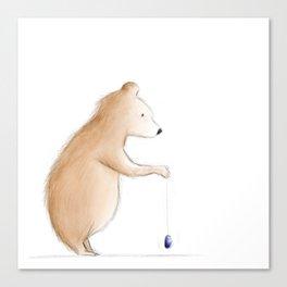 Bear with Yoyo Canvas Print