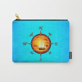 Sailboat And Compass Rose Carry-All Pouch