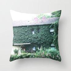Wine maker house Throw Pillow