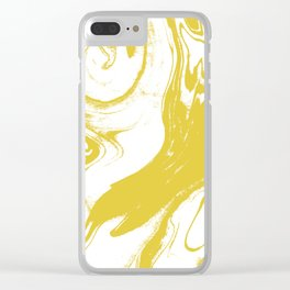 Suminagashi 1 gold marble spilled ink ocean swirl watercolor painting marbled pattern Clear iPhone Case