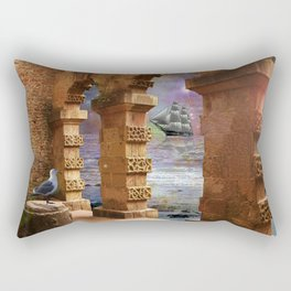 The Temple of Poseidon Rectangular Pillow