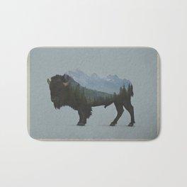 Wyoming Bison Flag Bath Mat