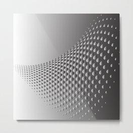 Sliver Wave Pattern Metal Print