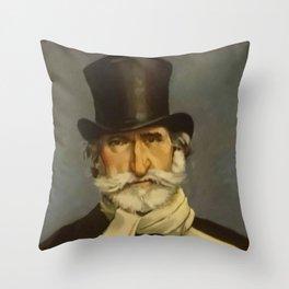 Giovanni Boldini- portrait of Verdi Throw Pillow