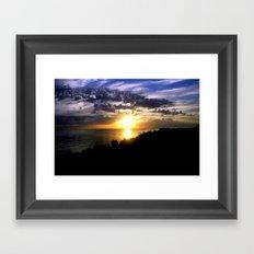 Sunrise over Port Philip Bay - Melbourne Framed Art Print
