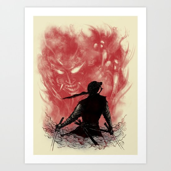 Ronin Versus Oni Art Print