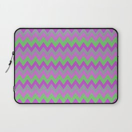 pink purple and green chevron Laptop Sleeve