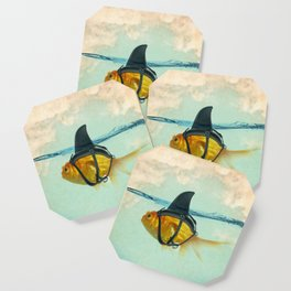 Brilliant DISGUISE - Goldfish with a Shark Fin Coaster