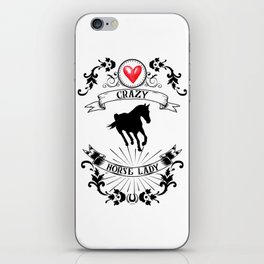 Crazy Horse Lady Riding Equestrian Girlie Rider iPhone Skin