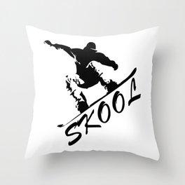 Boarding Skool -Snowboarding Throw Pillow