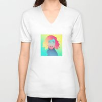 gradient V-neck T-shirts featuring Princess Gradient by maysgrafx
