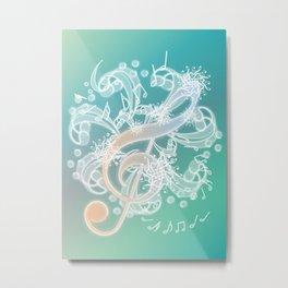 Music Notes - Crystal Metal Print
