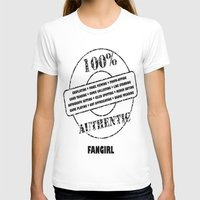 fangirl T-shirts featuring Authentic Fangirl by Off The Path Creative