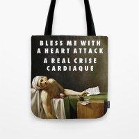 vampire weekend Tote Bags featuring Neoclassical Weekend by Modern Vampires of Art History