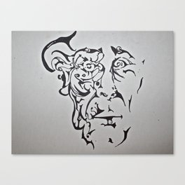 A Man of Organic Lineage Canvas Print