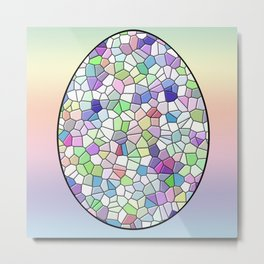 Mosaic Egg Metal Print