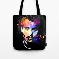 johnny depp Tote Bags featuring Johnny Depp by BIG Colours