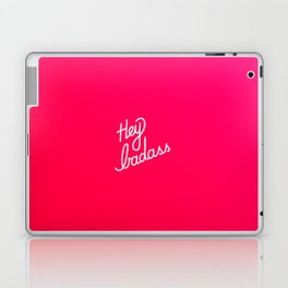 Hey badass   [gradient] Laptop & iPad Skin
