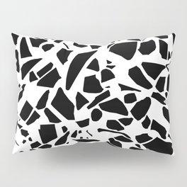 Terrazzo Black on White Pillow Sham