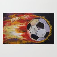 soccer Area & Throw Rugs featuring Soccer by Michael Creese