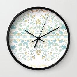 Boho floral Wall Clock