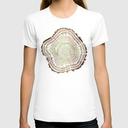 Tree Rings – Watercolor Ombre T-shirt