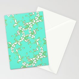 Petite Paisley in Aqua Stationery Cards