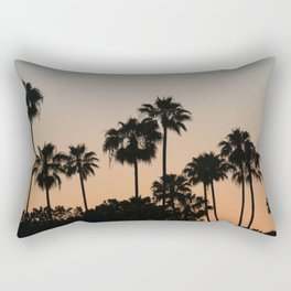Palm Trees and Sunsets Rectangular Pillow