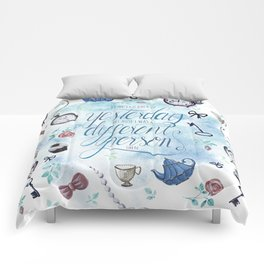I CAN'T GO BACK TO YESTERDAY Comforters