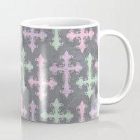 pastel goth Mugs featuring Pastel Goth | Grunge Grey by Glitterati Grunge