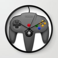 nintendo Wall Clocks featuring Nintendo 64 by S3NTRYdesigns
