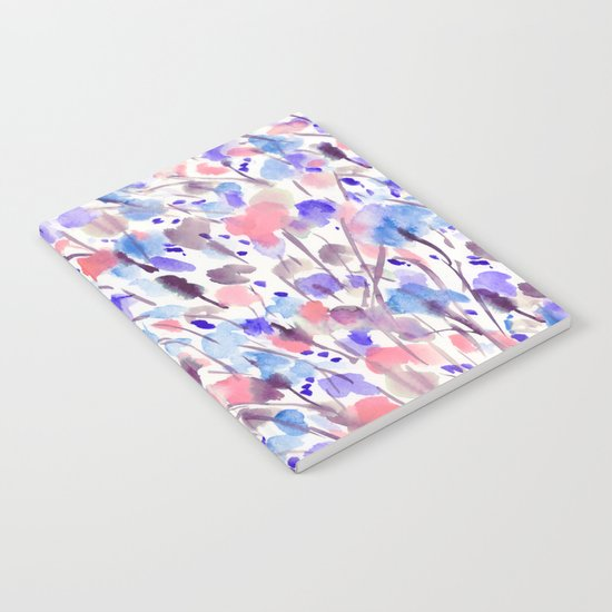 Wild Nature (Apricot, Blue) Notebook