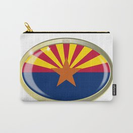 Arizona State Flag Oval Button Carry-All Pouch